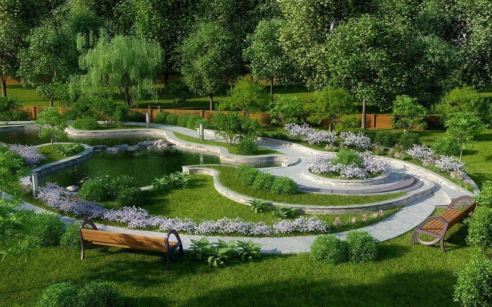 Ландшафтный дизайн и благоустройство участка