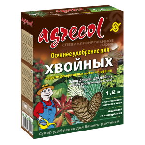 Удобрение Agrecol осеннее для хвойных, 1,2кг
