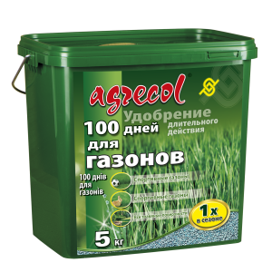 Удобрение Agrecol 100 дней удобрение для газона, 5кг