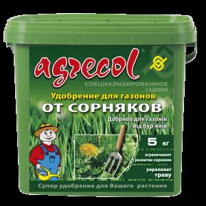 Удобрение Agrecol для газонов от сорняков, 5кг