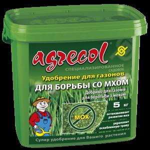 Удобрение Agrecol для газонов и борьбы с мхом, 5кг
