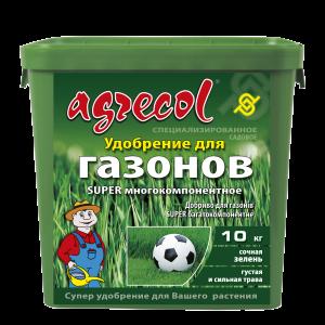 Удобрение Agrecol для газонов super многокомпонентное, 10кг